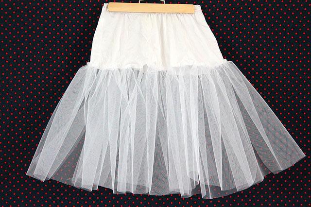 Из одного слоя присобранной сетки получится юбка средней пышности