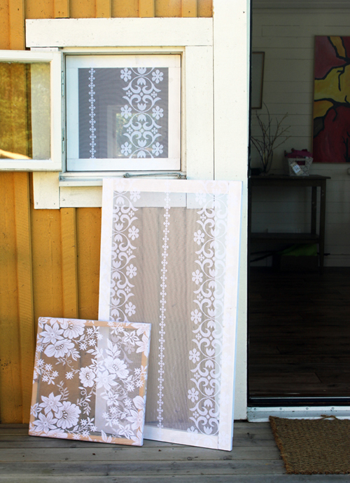 Окна и стекла, раскрашенные под кружево