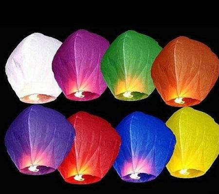 Как сделать летающие бумажные фонарики
