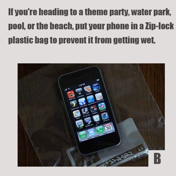 не поленитесь и не постесняйтесь положить телефон в небольшой герметично закрывающийся пакет