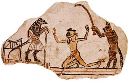 фреска леение зубов в Древнем Египте