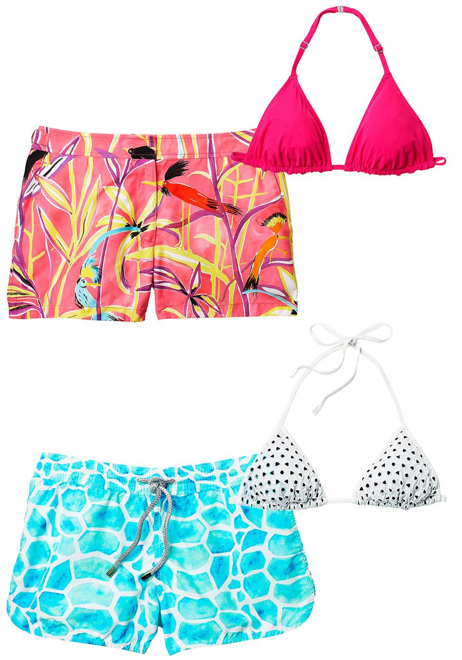 модные купальники лето 2014: шорты с бикини