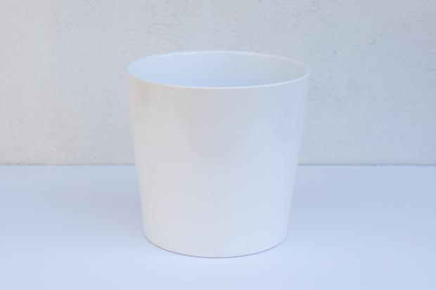 белый керамический цветочный горшок