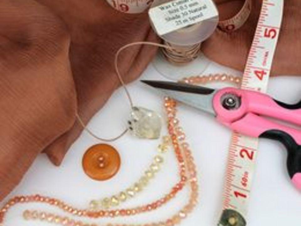 исходные материалы для создания ожерелья