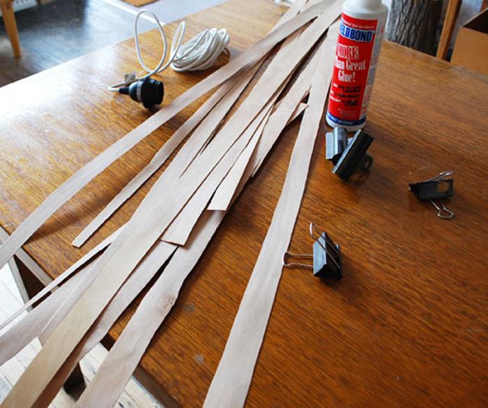 исходные материалы для создания плафона модерн своими руками