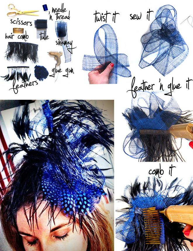 Повязки-люкс на голову своими руками: королевский шарм с перьями