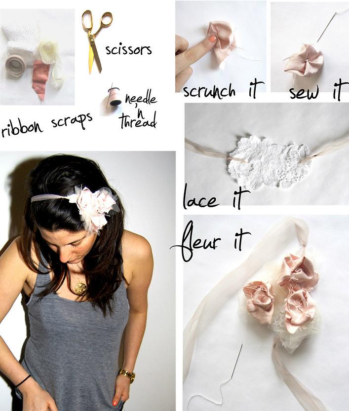 повязки-люкс на голову своими руками: цветы и косы