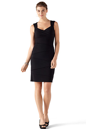 правильное черное платье для узкой талии