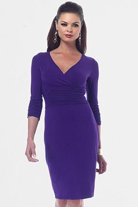 платье с запахом для более тонкой талии