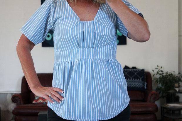 Как из мужской рубашки сшить женственную блузу для дам с формами