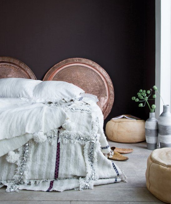 Варианты дизайна марокканского свадебного одеяла/покрывала/пледа