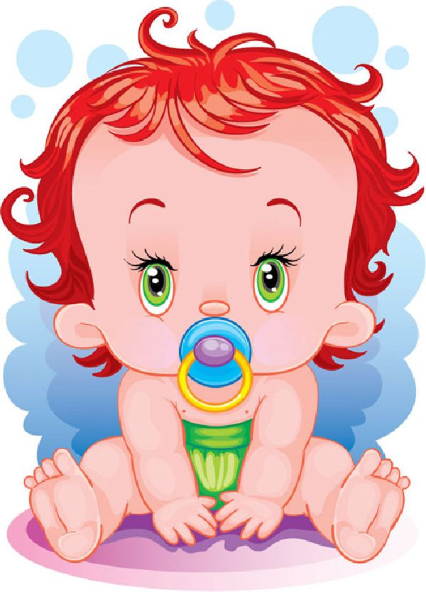 рисунок умильного малыша ребенка младенца