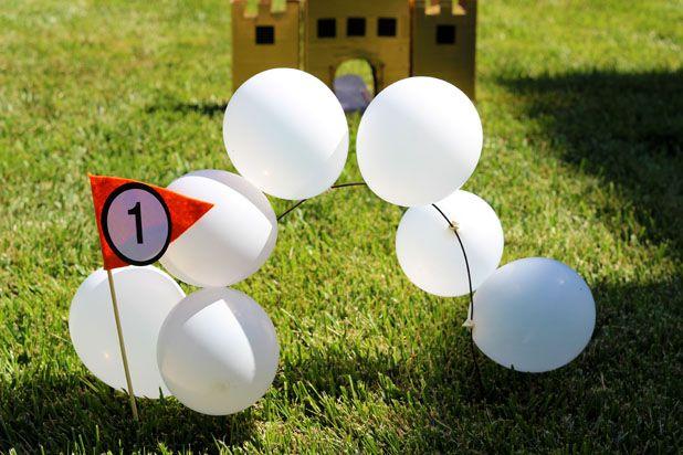 арка с шариками для мини-гольфа своими руками