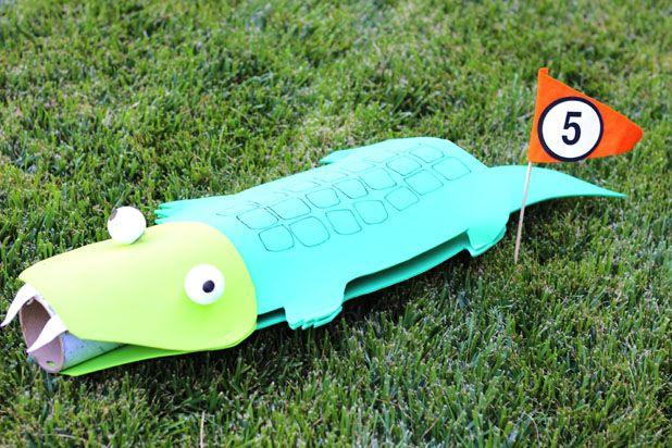 аллигатор для мини-гольфа своими руками