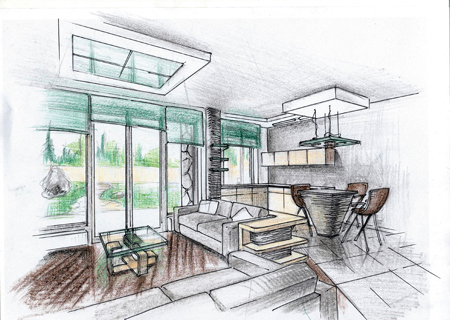 Крайне важно перед началом работ получить полное представление о том, как будет выглядеть помещение/квартира/дом в конце
