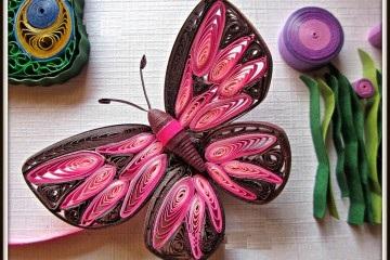 Как создавать елочные игрушки и новогодние подвески в технике квиллинг: обемные фигуры из склеиваемых уровнями деталей, бабочка
