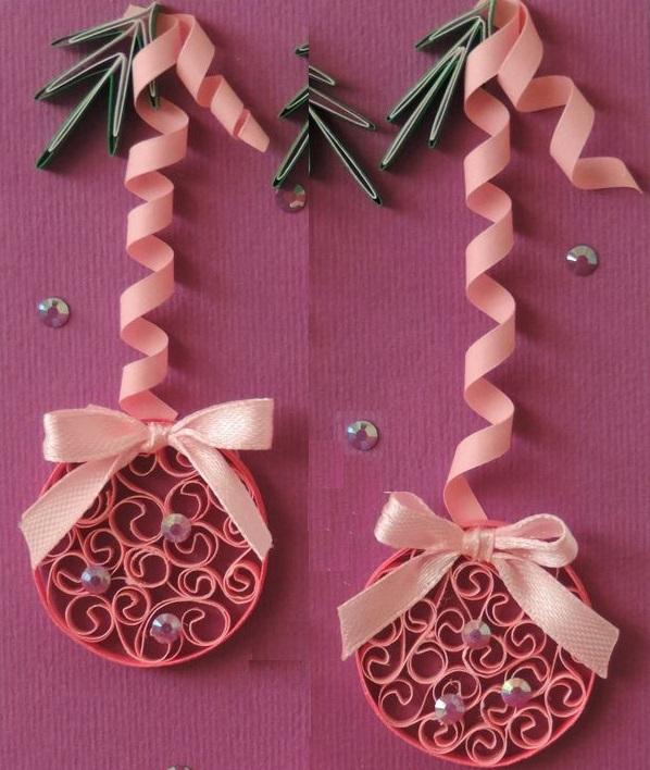 Как создавать елочные игрушки и новогодние подвески в технике квиллинг: плоские шары в жесткой рамке