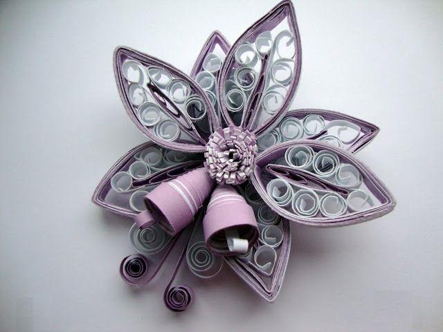 Как создавать елочные игрушки и новогодние подвески в технике квиллинг: цветок с колокольчиками, 2 уровня