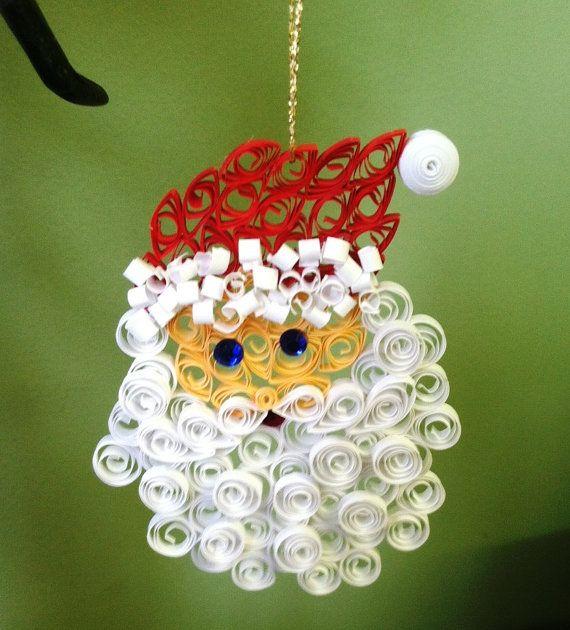 Как создавать елочные игрушки и новогодние подвески в технике квиллинг: Санта, 2 уровня