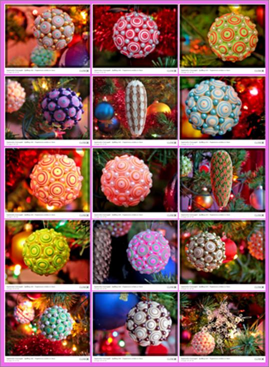 Как создавать елочные игрушки и новогодние подвески в технике квиллинг: квиллинг-детали на объемной форме, огромные шары-подвески