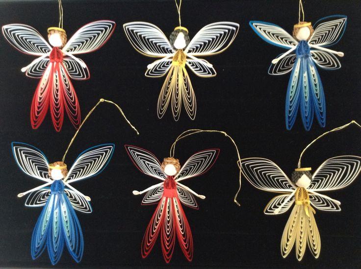 Как создавать елочные игрушки и новогодние подвески в технике квиллинг: плоские и объемные игрушки с дополнительными деталями из разных материалов, феи с головами из деревянных шариков