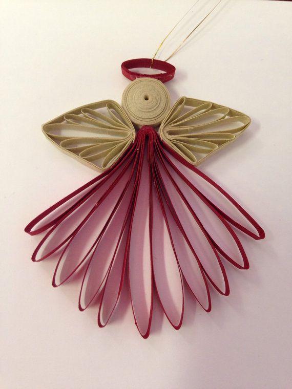 Как создавать елочные игрушки и новогодние подвески в технике квиллинг: ангел, в одной плоскости