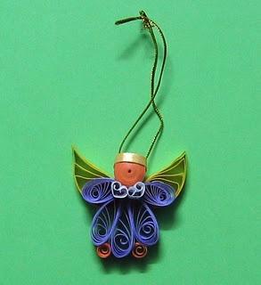 Как создавать елочные игрушки и новогодние подвески в технике квиллинг: плоские и объемные игрушки с дополнительными деталями из разных материалов, ангел
