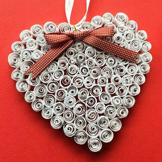 Как создавать елочные игрушки и новогодние подвески в технике квиллинг: сердце, 1 уровень