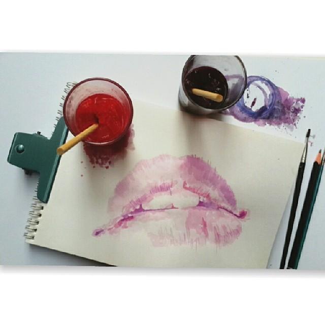 Осман Тома (Othman Toma) рисует шедевры подтаявшим мороженым: губы