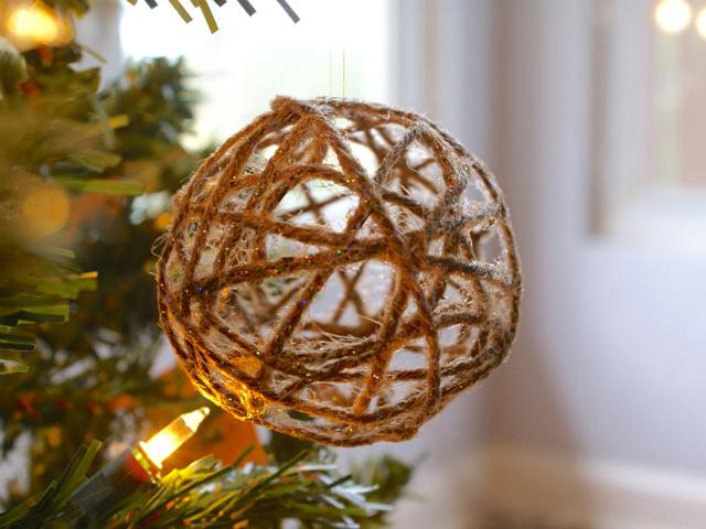Нитяные шары из натуральных веревок