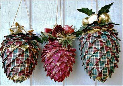 Не меньше подойдут для эко-елки и шишки из ткани соответствующей расцветки