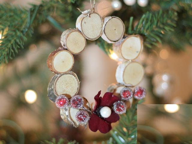 Склеивание из дисков, напиленных из веток деревьев, различных форм для новогодней елки
