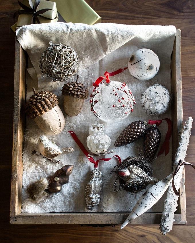 Как роскошно украсить елку в стиле а-ля натюрель (экостиль): коммерческие игрушки от марки Balsam Hill, набор