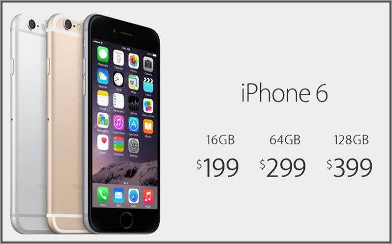 цены на новые iPhone 6 и iPhone 6 Plus