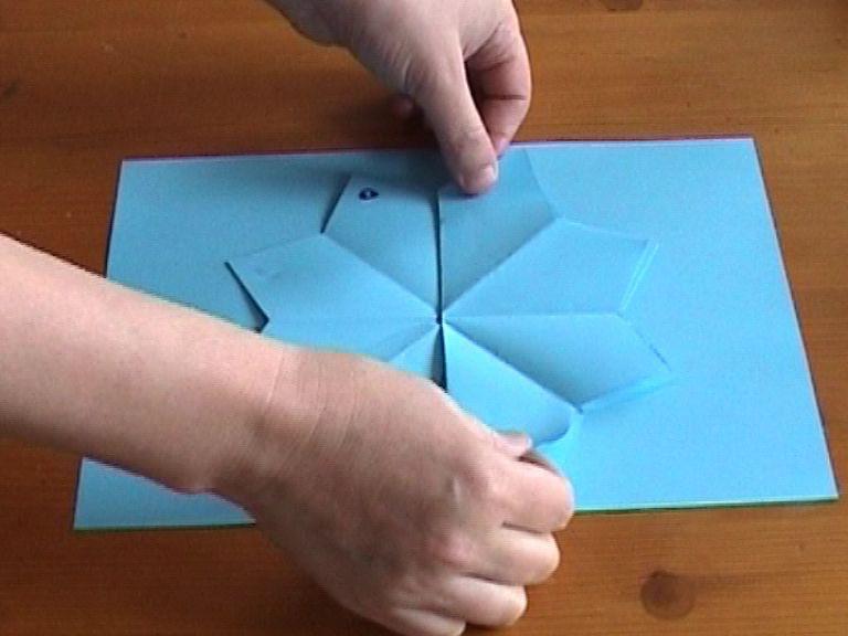 Как сделать объемный цветок схема 76