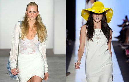 Добавьте к модному белому платью с кружевом яркую шляпу