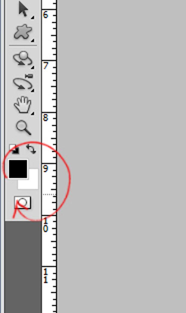 Photoshop: в качестве фонового цвета выберите черный