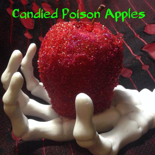 Как приготовить вариации «отравленных» яблочек для стола на Хэллоуин
