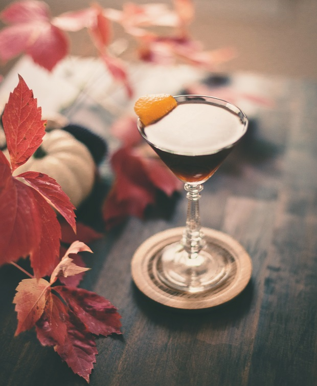 осенний коктейль с ржаным виски «Торонто»