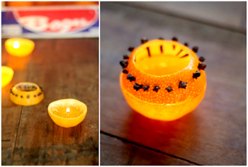 Как сделать свечу из апельсина за 5 минут без использования воска