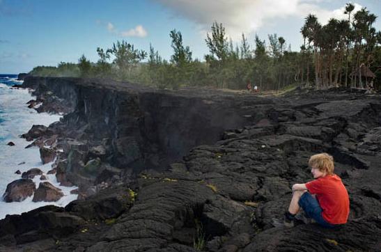 Береговая линия Реюньона: вулканический обрыв