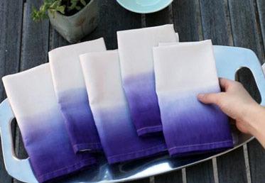 Как окрасить кухонные полотенца или салфетки в стиле омбре (градиентом)