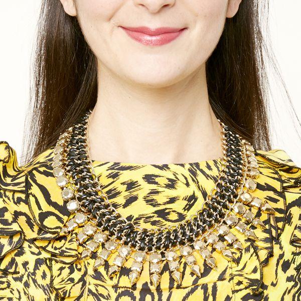 украшения модные тренды 2014: Замаскированный воротник