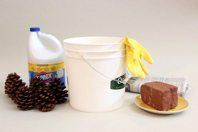 Как и зачем отбеливать шишки - исходные материалы и инструменты