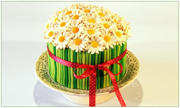Торт-букет цветов