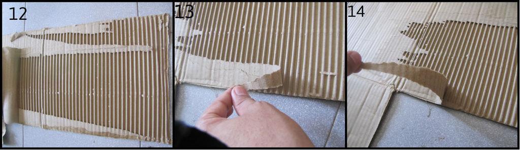 Гофр Е - e-flute, нечто подобное можно получить, отодрав один бумажный слой от картона некоторых обувных коробок