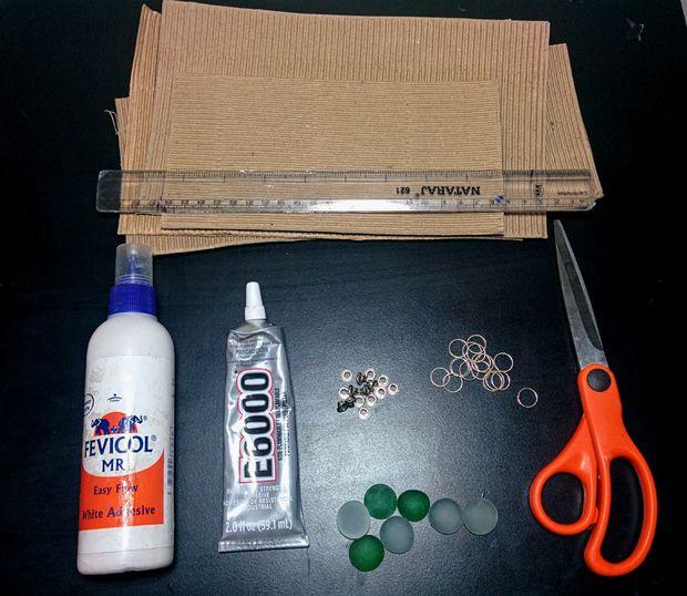 Как сделать ожерелье из тонкого гофрированного картона: а-ля сутажное колье - исходные материалы