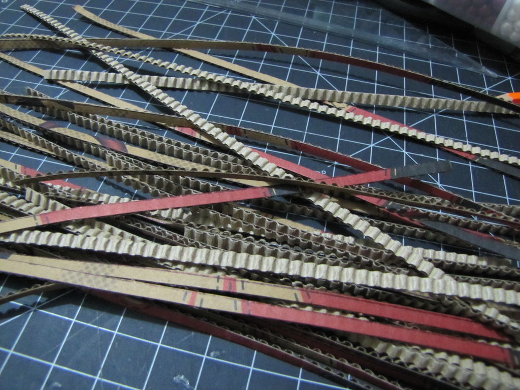 Нарезаем полосок длиной около 25 см
