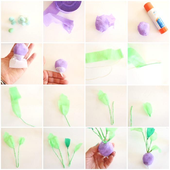 Как сделать натуралистичные овощи из крепированной бумаги своими руками - пошаговая инструкция в картинках