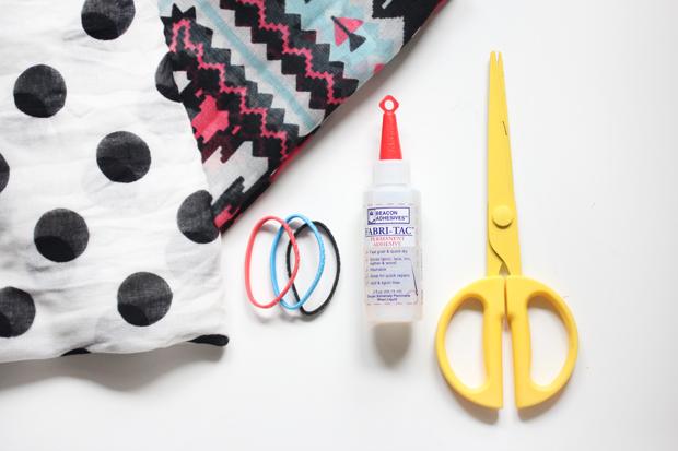исходные материалы для повязки на голову